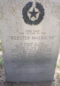 Gravesite of Webster Massacre Victims